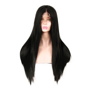 New change 250% density Lace Front Synthetic Hair Straight Wig With Baby Hair Hand Tied Cap Heat Resistant Glueless Wig For All Skin Women