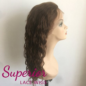"18"" chinese virgin remi lace front wig medium brown #4 25mm big wave"