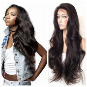 Long Wave Wigs Glueless Wavy Synthetic Lace Front Wig Natural Colour For Black Women With Baby Hair