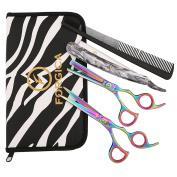 Professional Scissors Barber Salon Shears Hairdressing Set Cutting+Thinning 6.5
