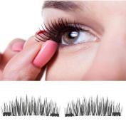 Classic Magnetic False Eyelashes,Vanvler Thick Fake Magnetic Eye Lashes Extension Tools