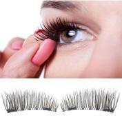 3D Magnetic False Eyelashes Extension ,Vanvler Classic Fake Magnetic Eye Lashes Natural Makeup