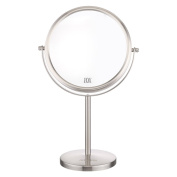 20cm 10x Magnification Nickel finished table mirror 360° Cosmetic Makeup Mirror Double side mirror ALHAKIN