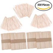 Senkary 500 Pieces Wax Applicator Sticks Wood Wax Spatulas Wood Craft Sticks for Hair Eyebrow Removal