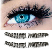 FANXING Fashion & Sexy 3D Ultra-thin Magnetic Reusable False Magnetic Eye Lashes(Three magnetic)