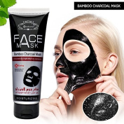AsaVea Active Charcoal black Mask for blackheads and facial purifying- Collagen & Charcoal Black Mask 120 g