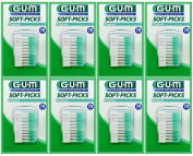 Sunstar GUM Soft-picks with Convenient Travel Cases, 8 Packs, 560 Picks