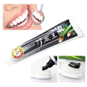 Tharv Bamboo Charcoal Whitening Toothpaste Cleaning Teeth Removes Plaque Suppression Bleeding -110ml