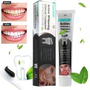 Tharv Activated Charcoal Whitening Toothpaste Natural Black Liquid Gel Toothpaste Herbal Mint Flavour -110ml