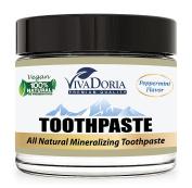 Viva Doria Fluoride Free Natural Mineralizing Toothpaste - Peppermint