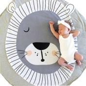 YJYdada Baby Toddlers Mattress Pads Round Creeping Mat Playmat Blanket Play Game Mat