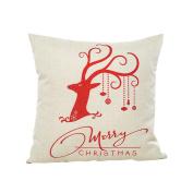 ✿Moseâ . !Merry Christmas Christmas Tree Series Pillow Case,Linen Sofa Cushion Cover Home Decor Pillow