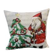 ✿Moseâ . !Christmas Series Pillowcase, Santa Snowman Sofa Cushion Home Decoration