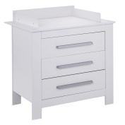 New MTN-G White Changing Table Dresser Infant Baby Nursery Nappy Station Storage 3 Drawer
