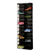 OUNONA 26 Large Pockets-Over the Door Hanging Shoes Organiser,Closet Shelves Rack Hanging Storage Space Saver