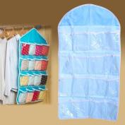 Hanging Closet Organiser ,Awakingdemi Hanging Closet Space Saving Holder Over the Wall Door Shoe Rack Organiser Shelf with 16 Pockets