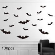 Halloween Party Decor ,Max-elf 3D Decorative Bats,Pumpkin Lantern,Witch,Wall Decal Wall Sticker,Halloween Eve Children's Room Decor