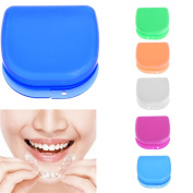 BCHZ 1X Mixed Colour Dental Orthodontic Retainer Mouthguard Dentures Storage Case Box