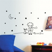 Wall Sticker, Stars Moon and The Little Prince Boy Wall Decals for Babies Boys Room Decorations by Keepfit