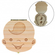 Tooth Box Organiser for Baby,Vanvler Delicate Milk Teeth Lanugo Save Wood Storage Box for Kids Boy & Girl