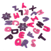 Global Craft Felt Alphabet Wall Hanging - Pinks - Global Groove