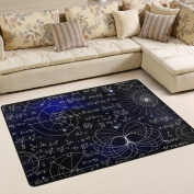 ALAZA Super Comfortable Anti-slip Mathematical Formulas Calculations Stars Space Area Rugs/Floor Mat/Cover Carpets with Small Amount of Memory Foam for Living Room/bedroom/Dining/Kids/Home Decorate 3