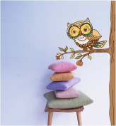 Large Removable Owl Wall Poster Wall Sticker Decals Arts-A Nice Vinyl Sticker and Wall Art Design for Your Home or Nursery Children Cute Room.