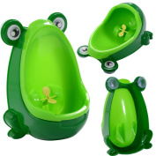 New MTN-G Green Cute Frog Potty Training Urinal For Boys Kids With Funny Aiming Target