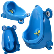 New MTN-G Blue Cute Frog Potty Training Urinal For Boys Kids With Funny Aiming Target