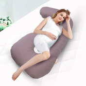 JAXPETY Full Body Pregnancy Pillow - Baby Nursing Cushion & Maternity Pillow for Pregnant Women - Belly & Back Support Cushion with 100% Cotton Pillow Cover - C Shaped