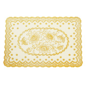 Durable Premium PVC Spillproof Reusable Placemats for Kitchen Table Mats Set of 4 Champagne
