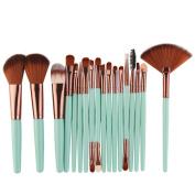 Makeup Brush Set tools, Snowfoller Fashion Professional Face Eye Shadow Eyeliner Foundation Blush Lip Powder Liquid Cream Bamboo Handle Makeup Brushes Kit 18 PCS