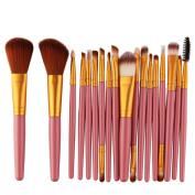 Makeup Brush Set tools, Snowfoller Fashion Make-up Toiletry Kit Wool Make Up Brush Set 18PCS