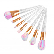 Snowfoller Make Up Foundation Eyebrow Eyeliner Blush Cosmetic Concealer Brushes Diamond Makeup Brush 7 PCS