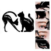 Cat Eyeliner Stencil Kit, Inkach Women/Girls Smoky Eyeshadow Applicators Eyeliner Cat Shaped Template Plate Makeup Set