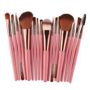 Snowfoller Makeup Brush Set tools Make-up Toiletry Kit Professional Face Eye Shadow Eyeliner Foundation Blush Lip Powder Handle Makeup Brushes Kit 18pcs