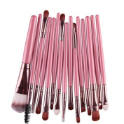 15 Pcs VIASA Makeup Brush Set, Professional Essential Cosmetic Make Up Brushes Kit For Eye Shadow, Blush, Concealer