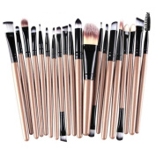 20 Pcs VIASA Makeup Brush Set, Professional Essential Cosmetic Make Up Brushes Kit For Eye Shadow, Blush, Concealer