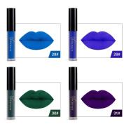 Nibito 6Pcs Halloween Style Lip Lingerie Matte Liquid Lipstick Waterproof Lip Gloss Set