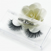Yunchuang 1 Pairs Soft 3D Mink False Eyelashes Cross Messy Eye Lashes Beauty