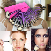 Premium Makeup Brush Set PREMIUM QUALITY SYNTHETIC HAIR Cosmetic Foundation Make up Kit Professional Cosmetic Brush Kit Makeup Tool - M & H, 24 Pcs