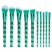 BTYMS 10pcs Makeup Brush Set Professional Cosmetics Foundation Blending Blush Face Powder Eyeshadow Brushes Premium Makeup Brush Kit Synthetic Bristles