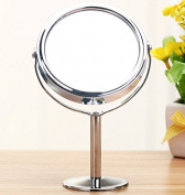 Ohcde Dheark 8.9cm Makeup Mirrors Beauty Women Mini Circular Makeup Cosmetic Dual Normal Magnifying Mirror