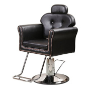 ColdBeauty Barber Chair With Adjustable BackRest