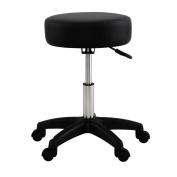 Black Adjustable Tattoo Salon Stool Hydraulic Rolling Chair Facial Massage Spa