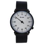 Kulte Ku15-0018 Black Stainless Steel Mesh Bracelet Watch Watch For Unisex 1 Pc