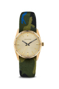 Zadig & Voltaire Zvf204 Gold/green Multicolor Cloth Bracelet Watch Watch For Women 1 Pc