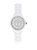 Kim & Jade 2033l-Ws White Stainless Steel Bracelet Watch Watch For Women 1 Pc