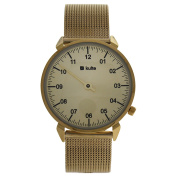 Kulte Kut8a Gold/gold Stainless Steel Mesh Bracelet Watch Watch For Unisex 1 Pc