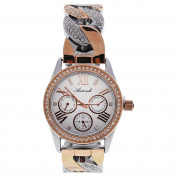 Antoneli Al0292-04 Silver/rose Gold Stainless Steel Bracelet Watch Watch For Women 1 Pc